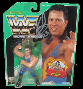 123 Kid Autographed WWF Hasbro (Green Card) Series 11 Figure