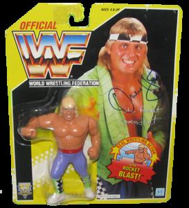 Owen Hart Autographed WWF Hasbro (Yellow Card) Series 7 Figure