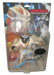 The Great Muta Autographed HAO Japanese Figure (White Gear Version)