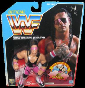 Bret Hart Autographed WWF Hasbro (Blue Card) Series 4 Figure