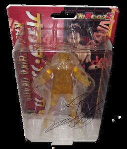 Kazuchika Okada Autographed NJPW AJPW CMLL NOAH Japanese Wrestling Figure (Clear Gold Version)