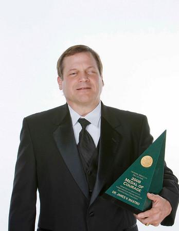 Dr. James V. Mastro the Medal of Courage by Juan Garcia