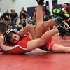 Fitchburg's Issac Paulino, top, grapples during the fourth annual Fitchburg Youth Wrestling Holiday Tournament at Monty Tech in Fitchburg. Roughly 280 young athletes took part in the event, which was held on Saturday, Dec. 17, 2016. SENTINEL & ENTERPRISE / SCOTT LAPRADE