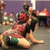 Haylee Keckler of Ashburnham with the Fitchburg Wrestling team