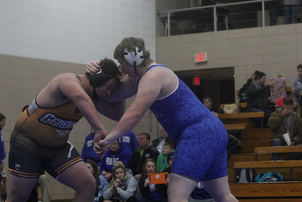Wrestling at a double dual in Rock Valley 12-8-16