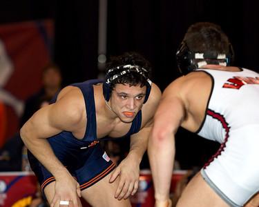 157 lbs. Michael Poeta (IL) def Gregor Gillespie (Edinboro) by decision 4-3