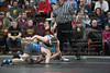 Carey's Jevyn Pratt wrestles Evergreen's Jared Fahrer. 106lb.