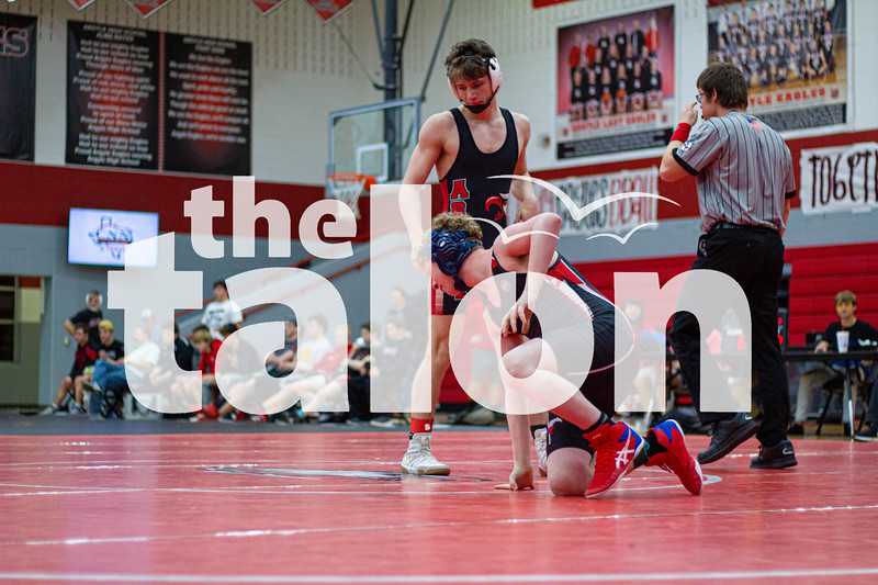 The Argyle Eagles varsity wresting team competes at Argyle High School on January 23, 2020.  (Iyona Bracy/ The Talon News)