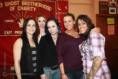 New England Pro Wrestling Hall of Fame Fanfest 2011 - Ivy, Taeler Hendrix, Mistrss Bellmont, Amber, Barbie