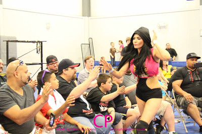 Shelly Martinez with JT Dunn vs Alexxis Nevaeh at Revival Pro Wrestling Cowabunga Combat
