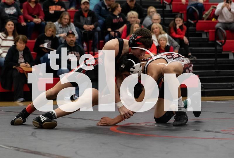 The Argyle Eagles wresting team competes with Springtown and Plainview on January 28, 2020.  (Laini Ledet/ The Talon News)