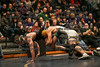 Findlay's Dru Hernandez maintains control of Clay's Troy Murphy as he tries to escape 160lb championship match.