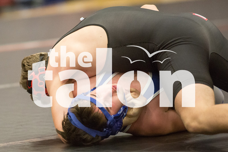 The Eagles host a wrestling match on January 10, 2017 at Argyle High School. (Christopher Piel/The Talon News)