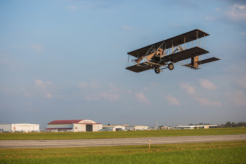 "Pay $100 for a membership to the Wright B Flyer Inc. Museum and then you ca take off in a replica Wright ""B"" Flyer."