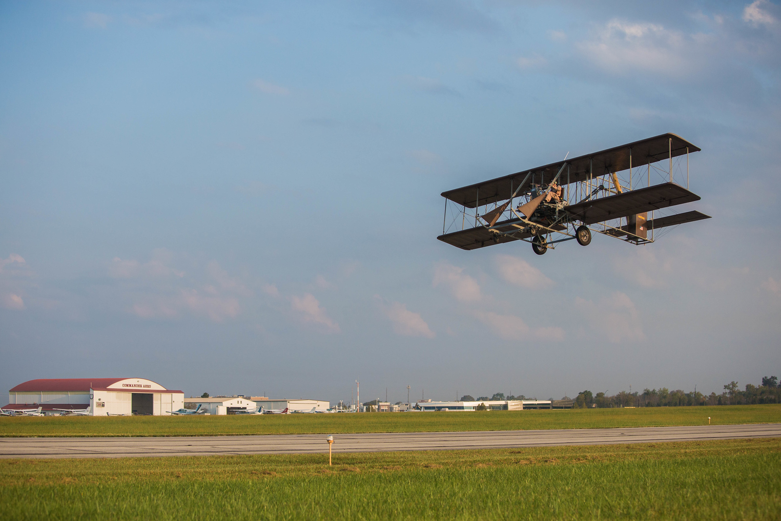 """Pay $100 for a membership to the Wright B Flyer Inc. Museum and then you ca take off in a replica Wright """"B"""" Flyer."""