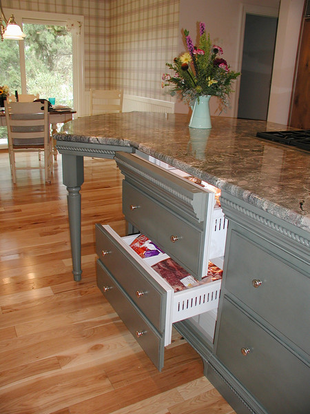 "Custom painted cabinets are part of this gourmet in South Nevada County. <br /> <br />  <a href=""http://www.wrightbuilt.biz"">http://www.wrightbuilt.biz</a>"