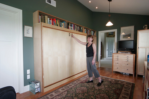 """Horizontal mount murphy bed is part of this office addition  <a href=""""http://www.wrightbuilt.biz"""">http://www.wrightbuilt.biz</a>"""