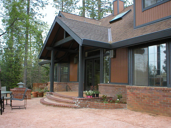 """Entry porch added to 6B Ranch home.<br /> Previously there was no entry roof and the foyer was too small.  We moved the front door out two feet and added post & beam porch.  <a href=""""http://www.wrightbuilt.biz"""">http://www.wrightbuilt.biz</a>"""