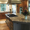 """Custom painted cabinets are part of this gourmet kitchen in South Nevada County.  <a href=""""http://www.wrightbuilt.biz"""">http://www.wrightbuilt.biz</a>"""