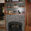 """Fireplace in South Nevada County using arts & crafts tile design.  <a href=""""http://www.wrightbuilt.biz"""">http://www.wrightbuilt.biz</a>"""