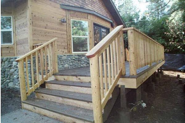 """Thomas deck with pole framed railing  <a href=""""http://www.wrightbuilt.biz"""">http://www.wrightbuilt.biz</a>"""