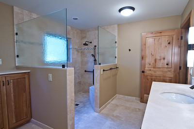 Universal design bath and shower  www.wrightbuilt.biz