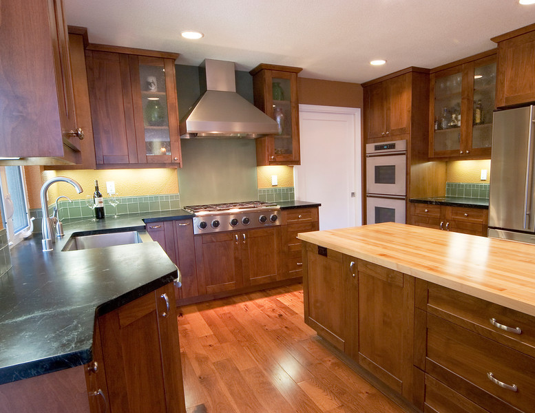 Kitchen Remodel By WrightBuilt With Soapstone And Butcher Block Counters