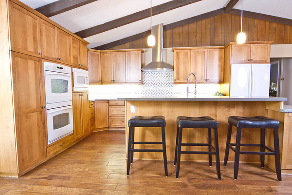 """Clean lines of shaker cabinets work well with in this Grass Valley home. <br /> <br />  <a href=""""http://www.wrightbuilt.biz"""">http://www.wrightbuilt.biz</a>"""
