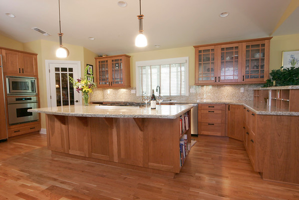 """Joehnck project:<br /> Craftsman kitchen using DeWils cabinets.  Remodel included walk in pantry with french door.<br /> <br />  <a href=""""http://www.wrightbuilt.biz"""">http://www.wrightbuilt.biz</a>"""