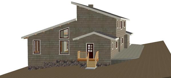 Sunroom elevation, Option #1