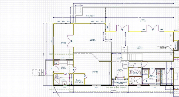 "Plan view, Sunroom Option #2 9'7"" x 17'7"""
