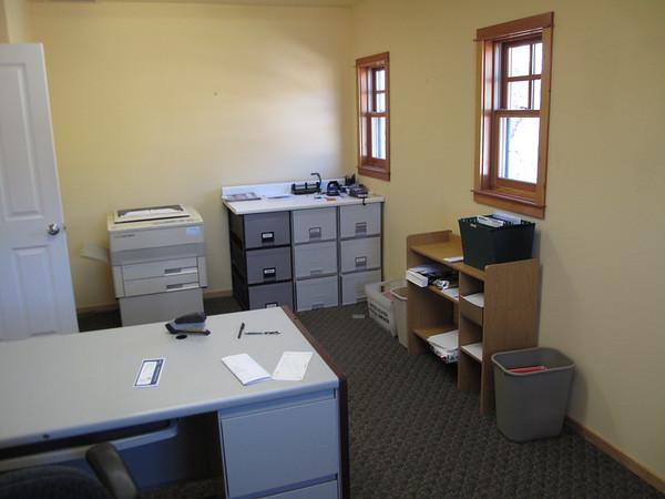 "Office B, Accounting<br /> 10'6"" x 18' <br /> <br />  <a href=""http://www.wrightbuilt.biz"">http://www.wrightbuilt.biz</a>"