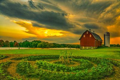 Arboretum Barn Storm Cloud light