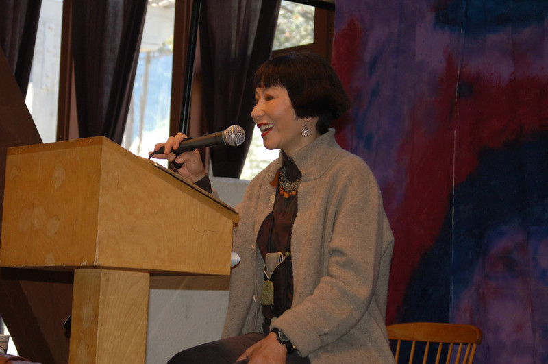 Writers Workshop - 2009<br /> Amy Tan give the closing talk