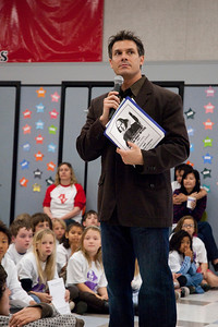 REDONDO BEACH , CALIFORNIA — Alta Vista Elementary's Young Writer's Conference. Shown here is Principal Anthony Taranto. Photo by Tom Sorensen, Friday March 27th, 2009.