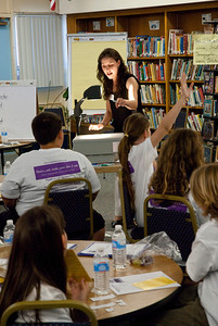 REDONDO BEACH , CALIFORNIA — Alta Vista Elementary's Young Writer's Conference. Shown here is Author/Educator Vanessa Ziff's session. Photo by Tom Sorensen, Friday March 27th, 2009.