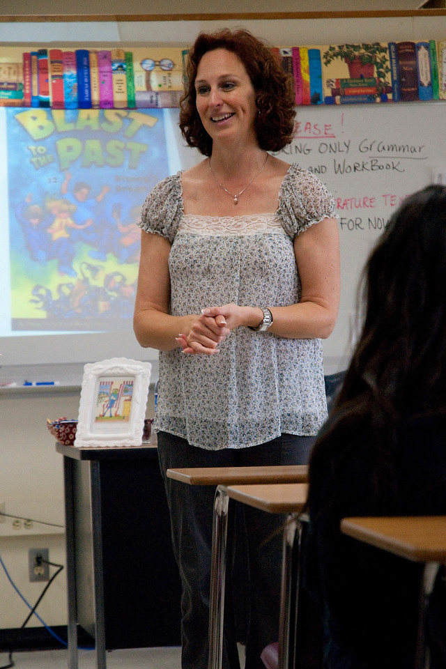 BEVERLY HILLS, CALIFORNIA — Young Writers' Conference at El Rodeo Elementary. Shown is a session with author Stacia Deutsch. Photo taken by Tom Sorensen, Monday May 18th, 2009.