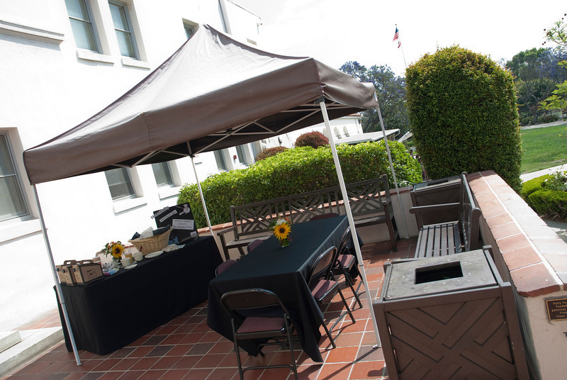 BEVERLY HILLS, CALIFORNIA — Young Writers' Conference at El Rodeo Elementary. Shown is an exterior shot of our setup. Photo taken by Tom Sorensen, Monday May 18th, 2009.