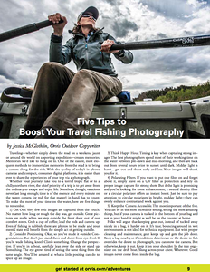 Orvis Adventures travel catalog, 2015. Photography + words.
