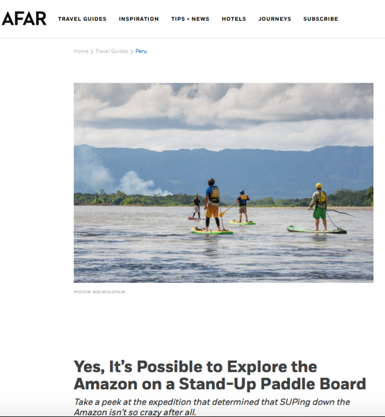 """Travel feature (images + words) for AFAR — SUP on the Peruvian Amazon.<br /> <br /> July 2017.<br /> <br /> <a href=""""https://www.afar.com/magazine/yes-its-possible-to-explore-the-amazon-on-a-stand-up-paddle-board?category=overview&guide=115"""">https://www.afar.com/magazine/yes-its-possible-to-explore-the-amazon-on-a-stand-up-paddle-board?category=overview&guide=115</a>"""