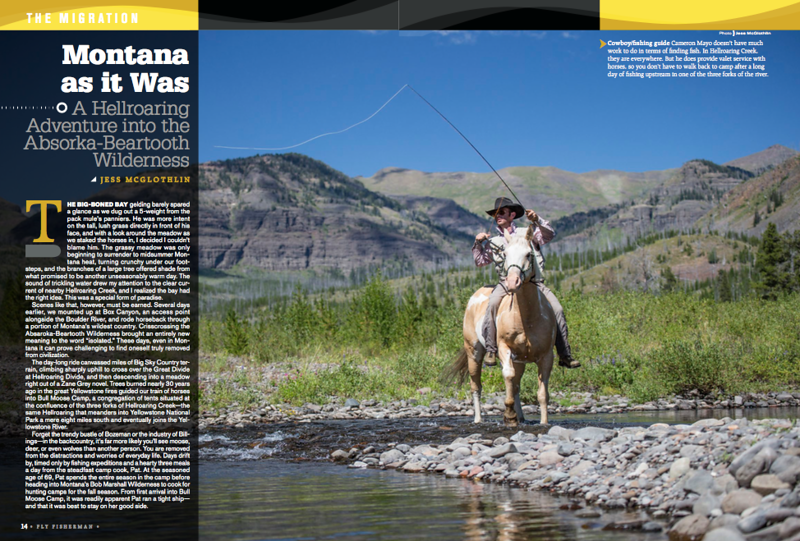 Backcountry fishing in the Absaroka-Bearooth Wilderness, Montana. Written and photographed feature.<br /> <br /> Fly Fisherman magazine, July 2017.