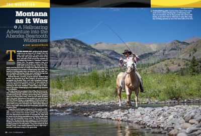 Backcountry fishing in the Absaroka-Bearooth Wilderness, Montana. Written and photographed feature.  Fly Fisherman magazine, July 2017.