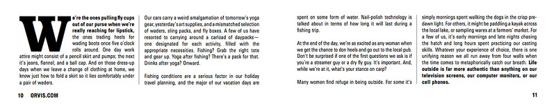 Orvis Trout Bum women's manifesto.