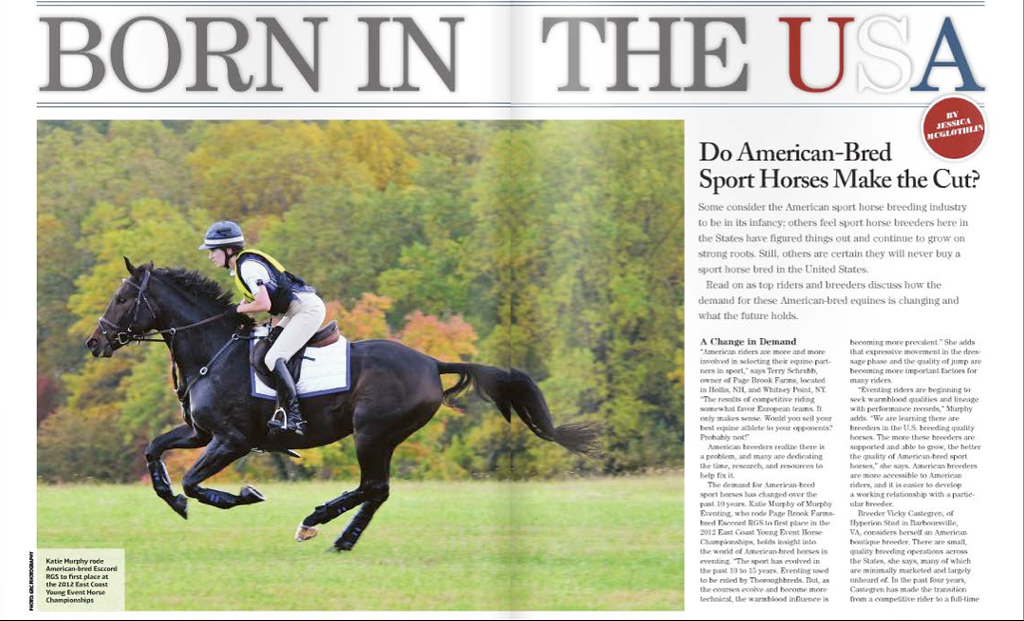 Equine Journal, 2013.