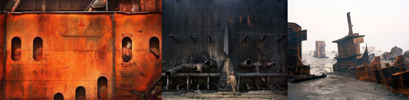 Shipbreakers in Alang, India