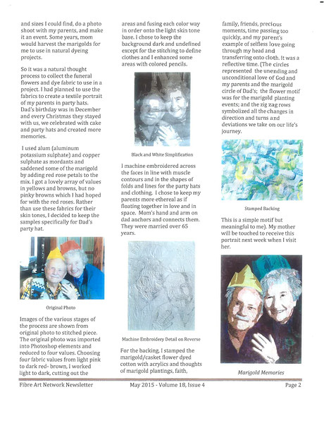 Art Therapy - Musings in May - Maintaining Marigold Memories - p2