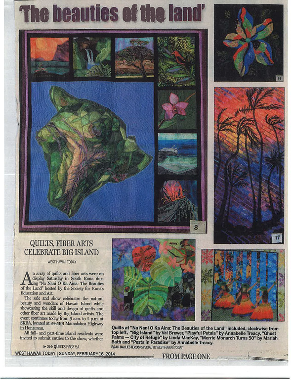 'The beauties of the land' - Newspaper article