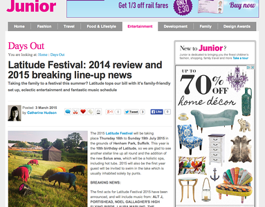 Latitude Festival, Southwold, Suffolk, UK