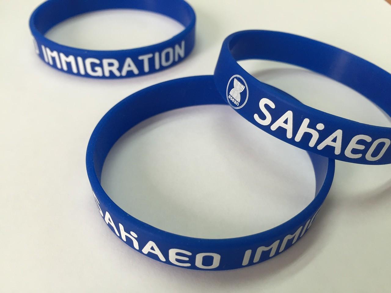 asean SAKAEO IMMIGRATIONシルク印刷リストバンド