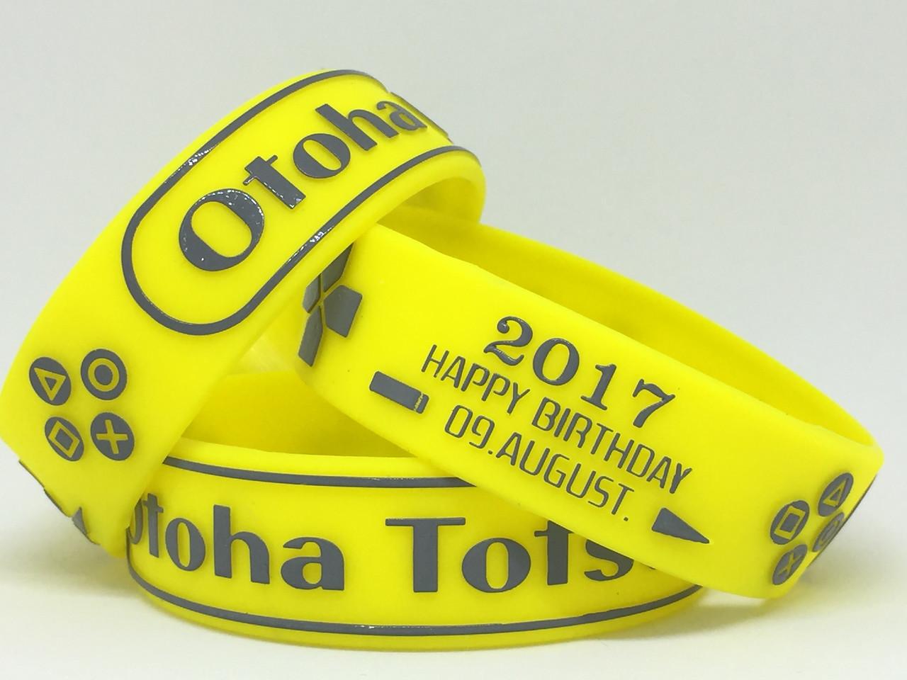 Otoha Totsukaはす 2017 HAPPY BIRTHDAY 09.AUGUST. エンボス加工リストバンド